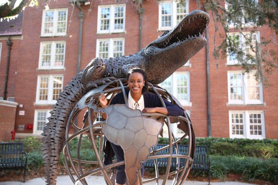 Rachelle Antoine posing by Gator Ubiquity
