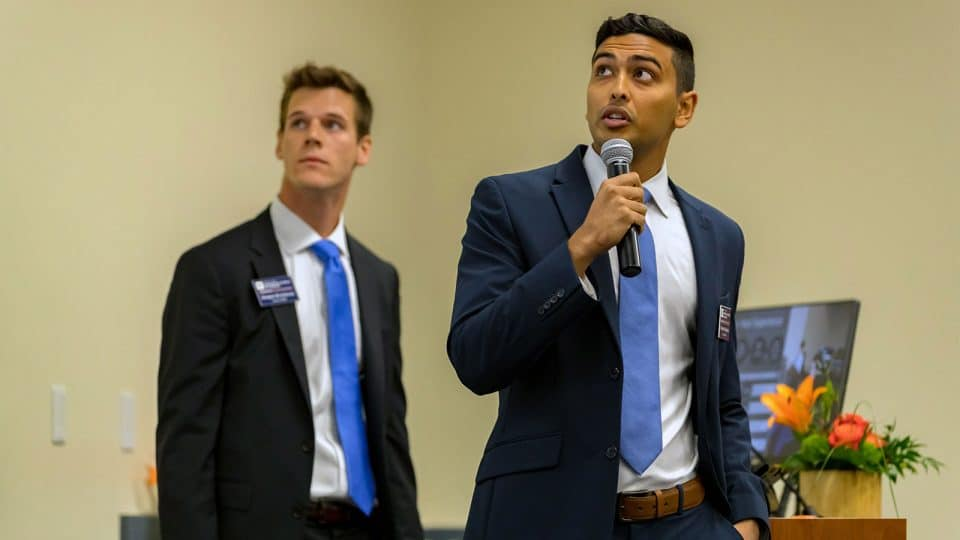 GSIF student pitches to the UF Advisor Network in October 2019