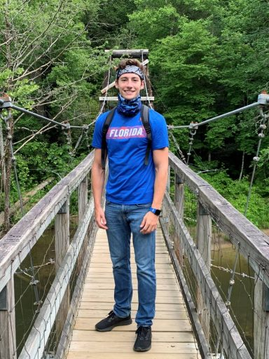 Aaron Mago hiking in Georgia