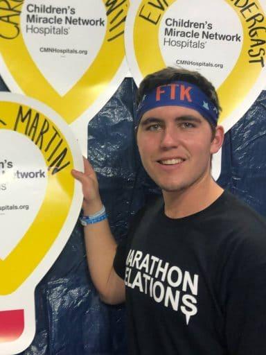 Alexander Martin at a dance marathon for Children's Miracle Network Hospitals