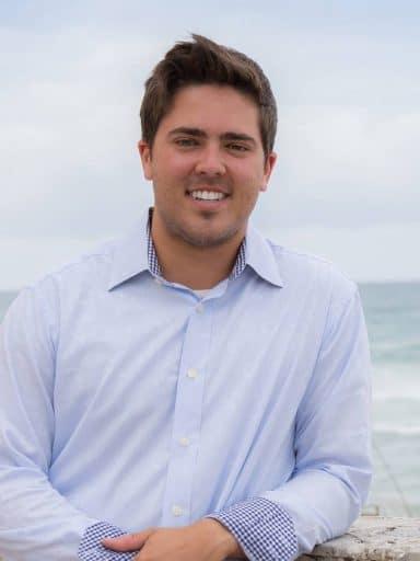 Austin Cavallo by the shore