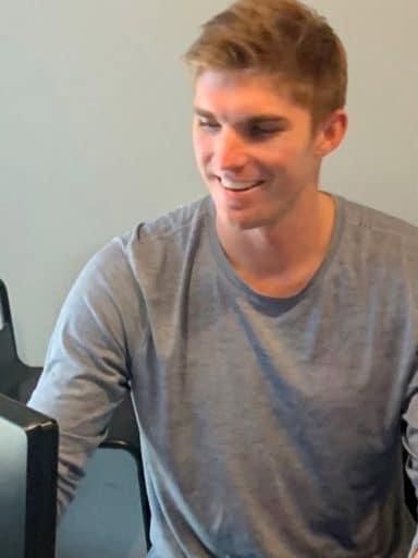 Jamie Schemmel at a computer