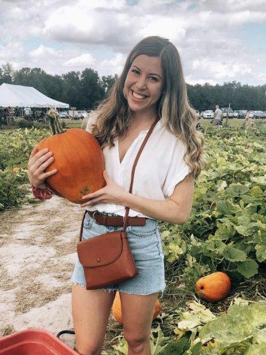 Rachel Ramm at a pumpkin patch