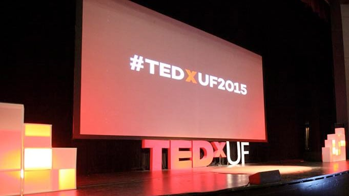 The TedxUF 2015 stage