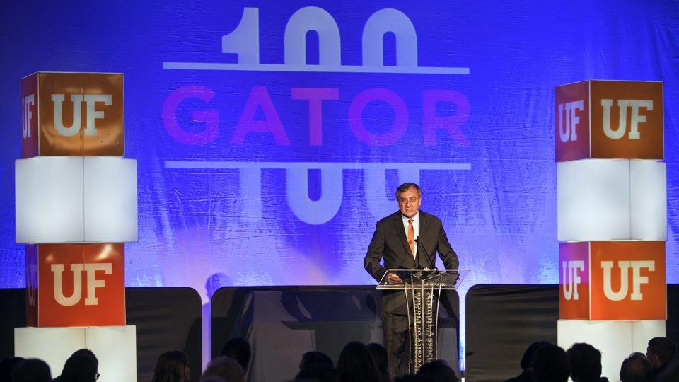 UF President Fuchs at Gator100
