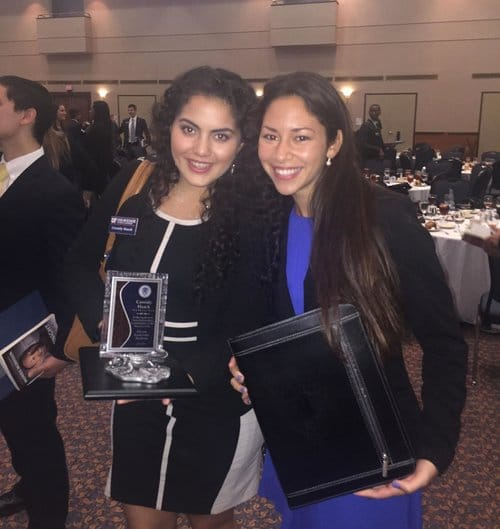 Cassidy and Jackie at the FLA induction ceremony in 2016