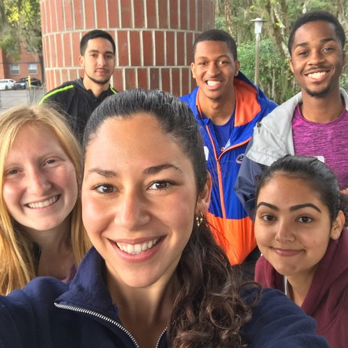Jackie and her FLA mentees at the Spring 2018 Retreat