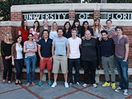 Students at the University of Florida Corner