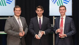 CFA Research Challenge Co-Champions in the Americas Regional Finals: Tyler Prebor, Michael Pappas and Joseph Jurbala