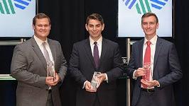 CFA Research Challenge Co-Champions in the Americas Regional Finals: Tyler Prebor, Michael Pappas and Joseph Jurbala