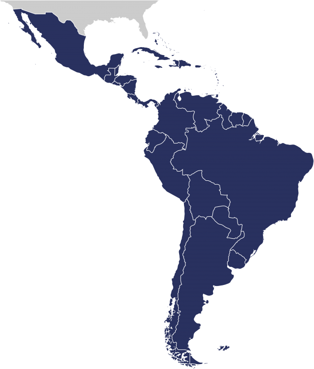 Mexico and Caribbean, Central American and South American countries