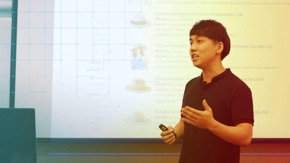 Sang Kyu Park presenting his research paper