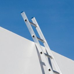 Ladder with blue sky in the background