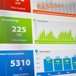 Utility data sheet on energy and water consumption
