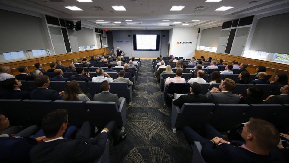 Dr. David Ling makes introductions at the Advisory Board Fall Retreat