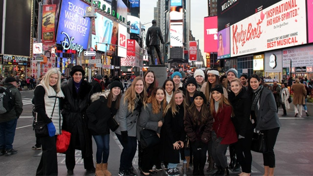 New York City Retail tour group in Times Square