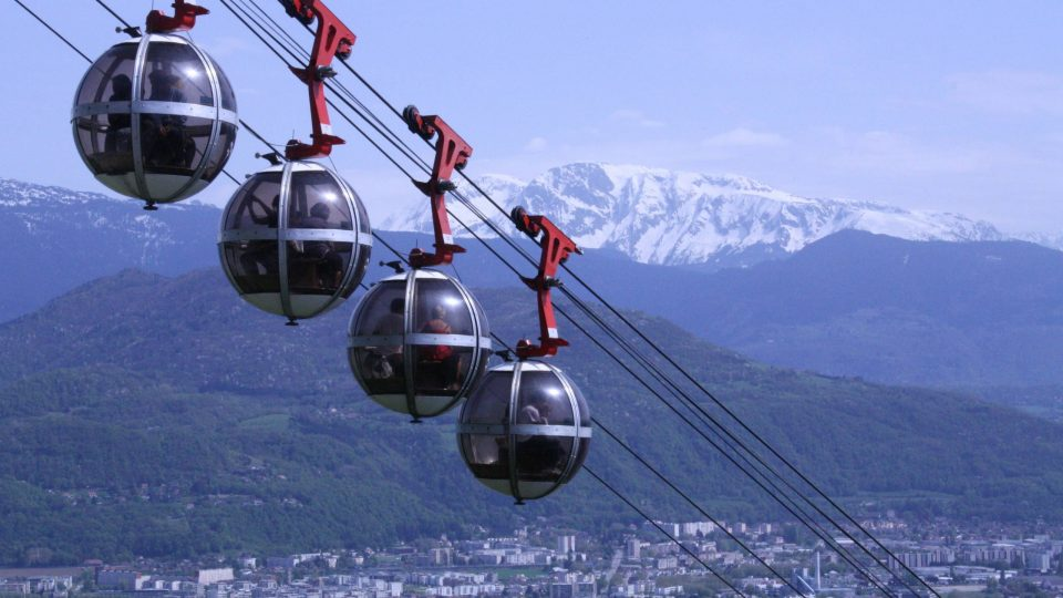 Grenoble, France cable cars
