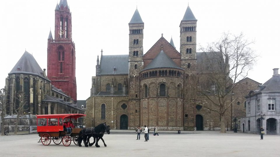 Horse-drawn tour in Vrijthof Square, Maastricht