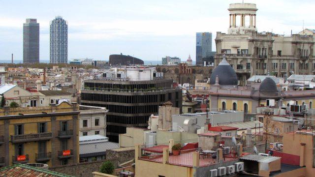 Rooftop view of Barcelona, Spain