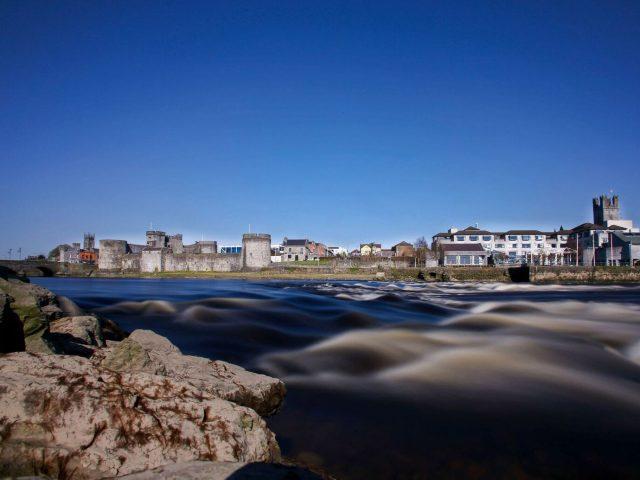 King John's Castle on the River Shannon in Limerick, Ireland