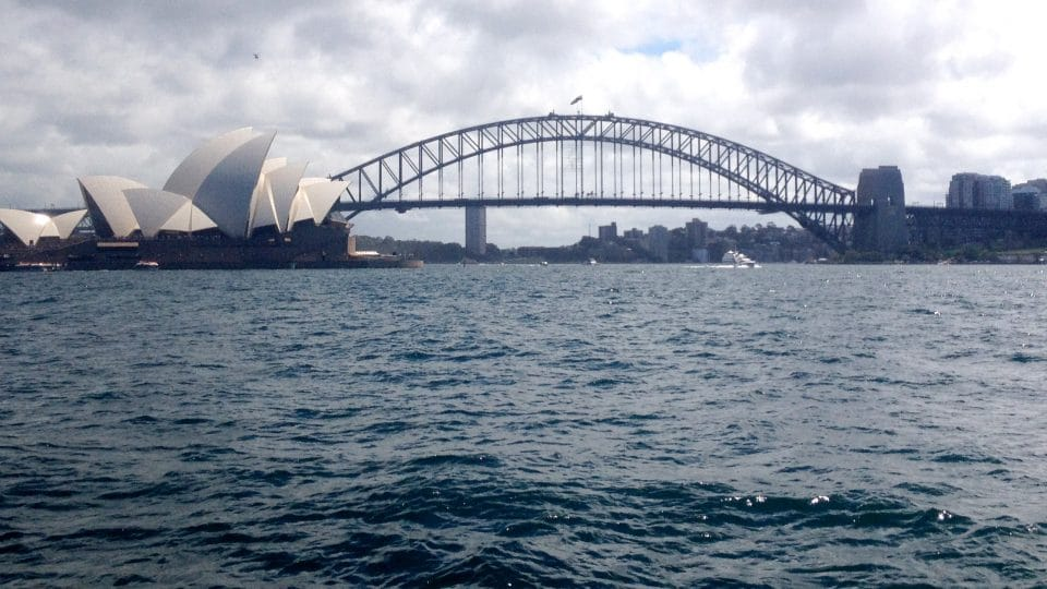 The Sydney Opera House and Harbour Bridge in Australia