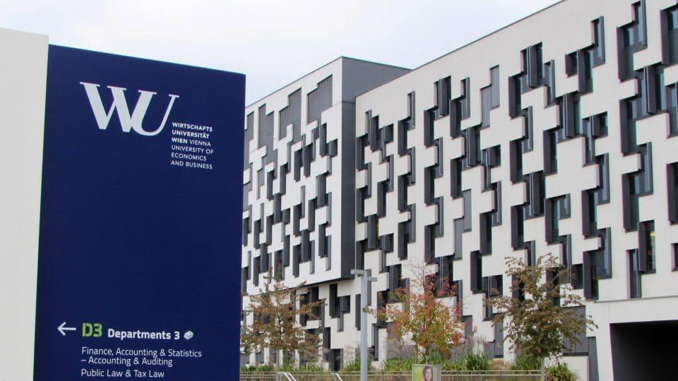 WU building in Vienna, Austria