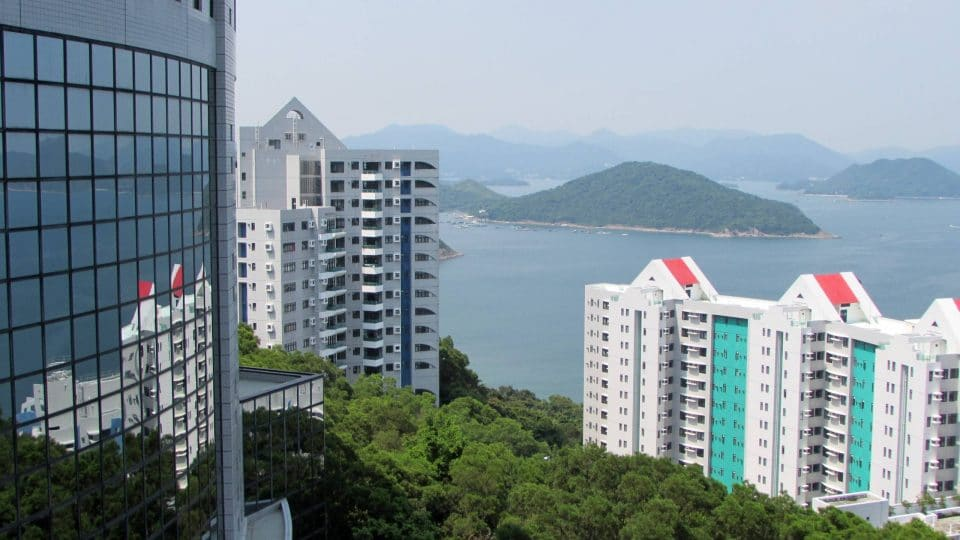 HKUST campus overlooks the water in Hong Kong