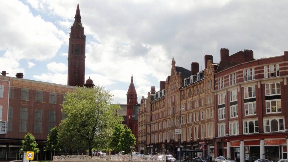 Birmingham City Center in England