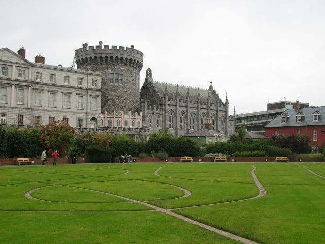 Dubhlinn Gardens, and Dublin Castle in Ireland