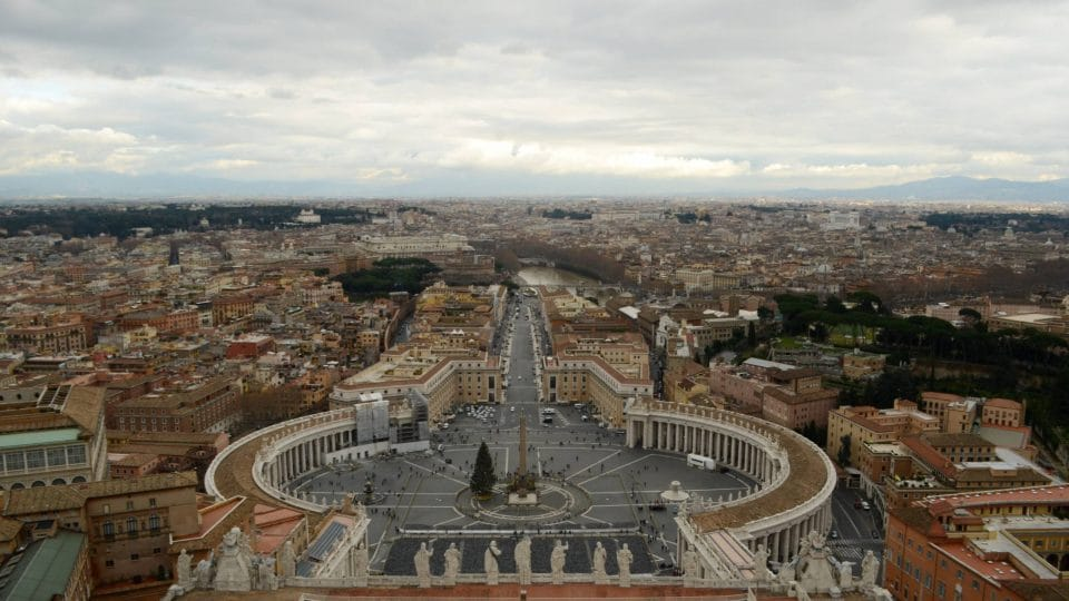 Overlooking St. Peter's Square, Vatican City, and Rome