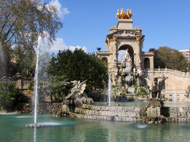 Grand Cascade Fountain in Barcelona, Spain