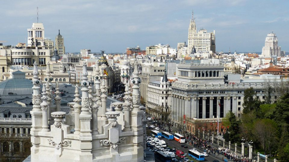 Madrid city from rooftop