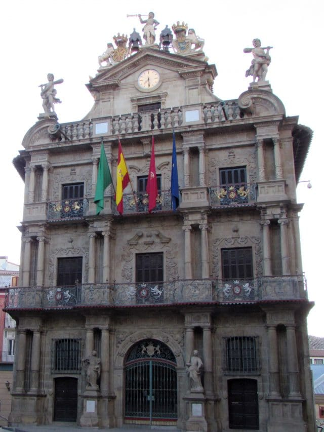 Pamplona's Town Hall in Spain