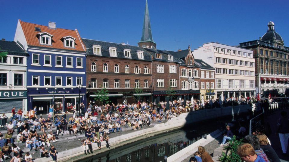 Canal Street in Aarhus, Denmark