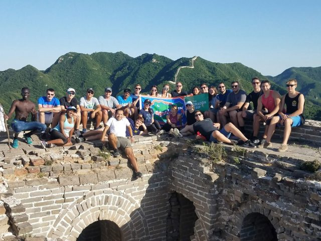 Student group on the Great Wall of China