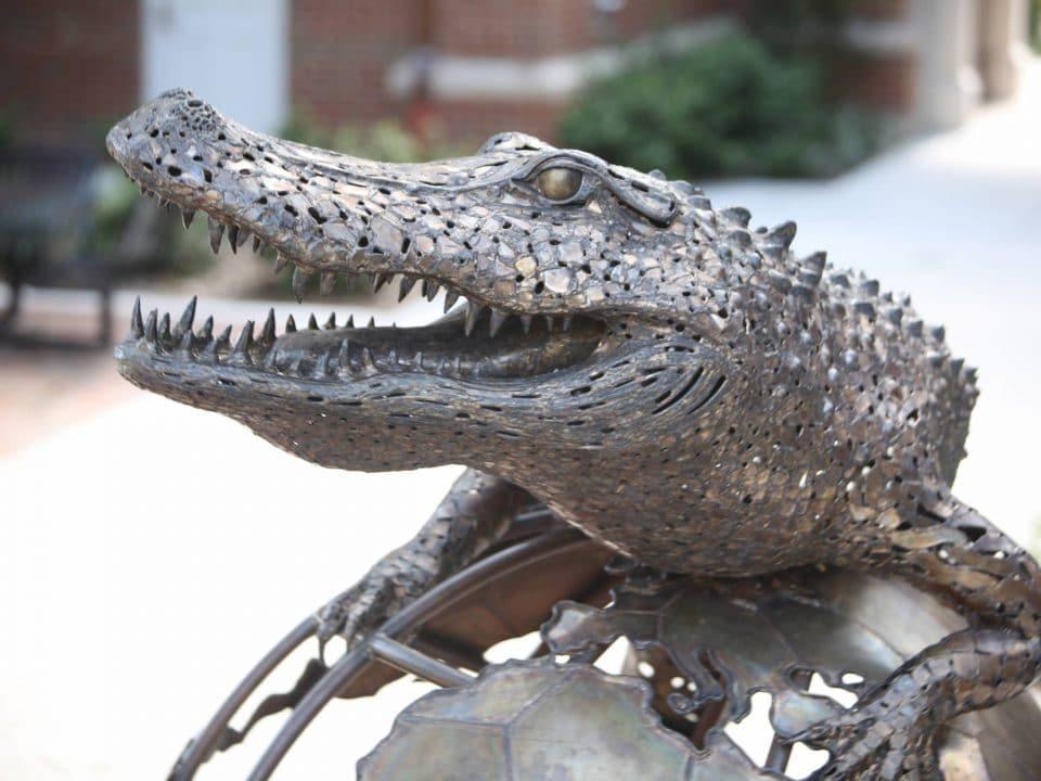 The Gator Ubiquity Statue by Heavener Hall