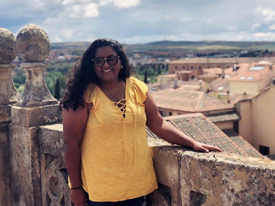 Young woman in Salamanca, Spain