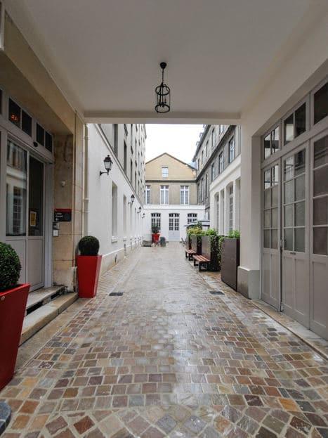 St. John's University Paris Campus Courtyard in France