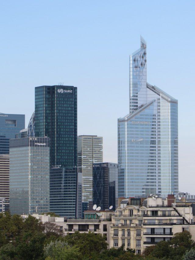 Buildings in La Defence area of Paris, France.
