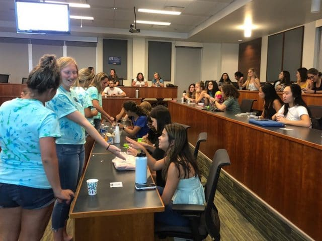 WGG members show other students how to make toothpaste